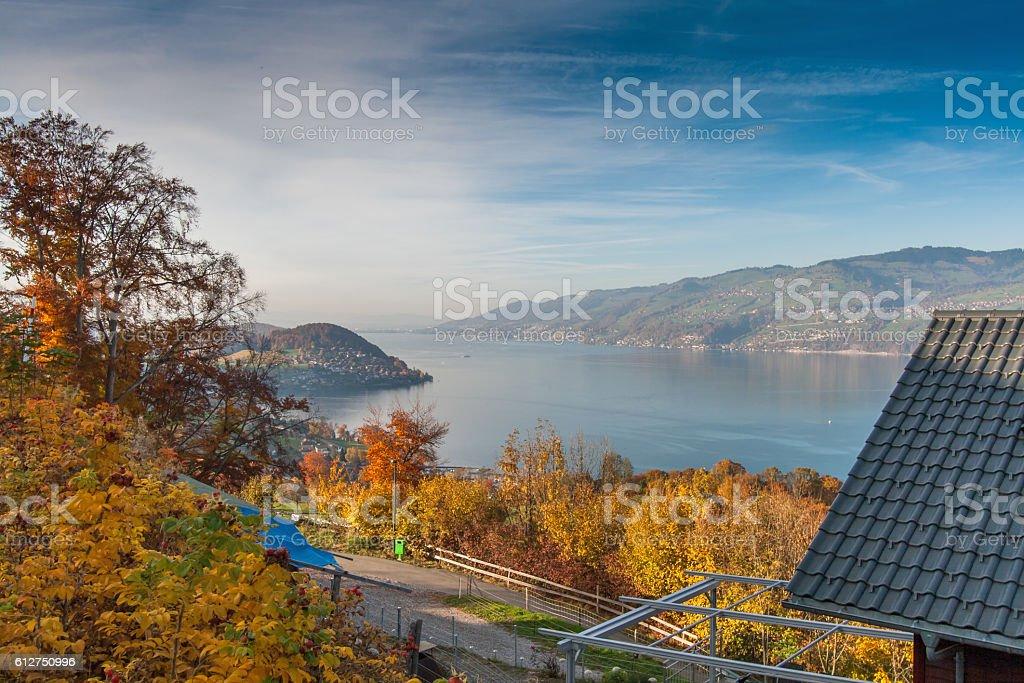 Lake Thun, Canton of Bern stock photo
