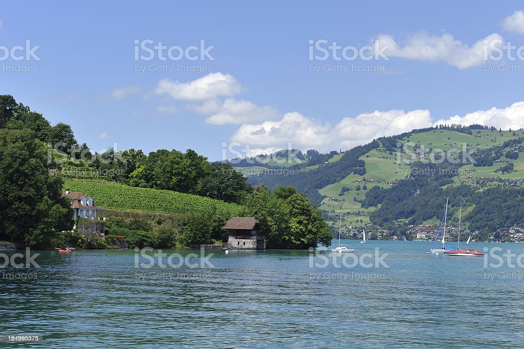 Lake Thun in Switzerland royalty-free stock photo