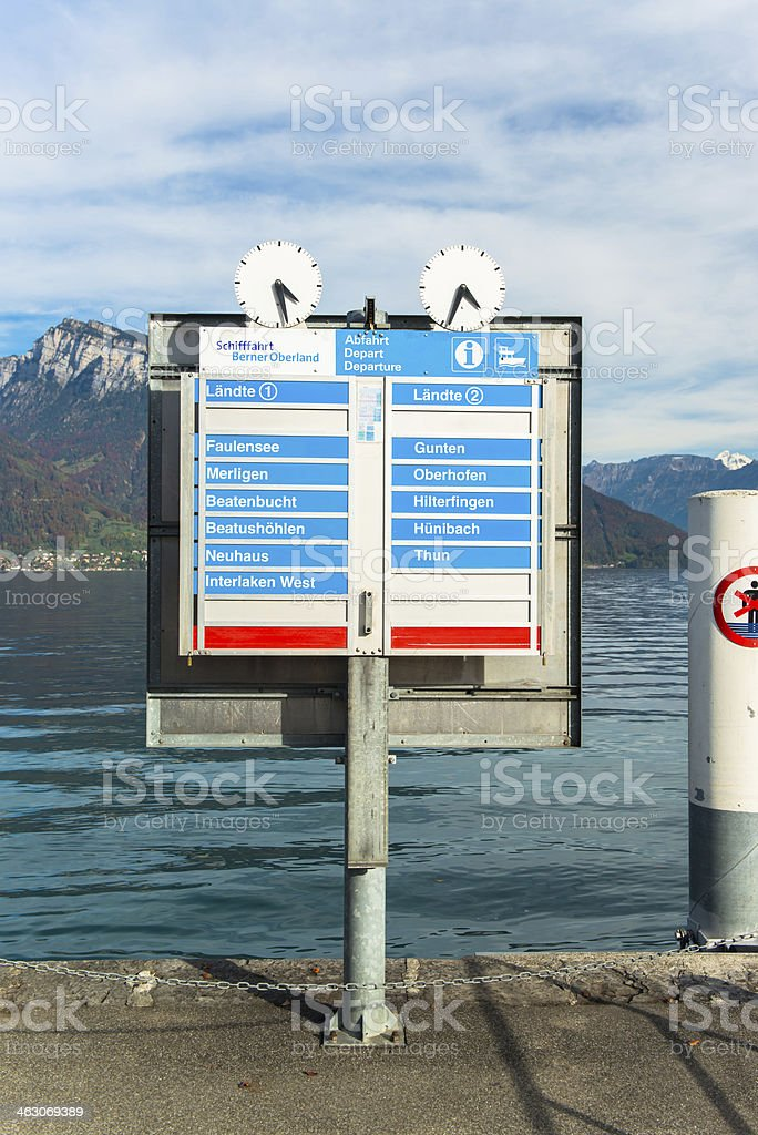 Lake Thun in the Bernese Oberland, Switzerland royalty-free stock photo