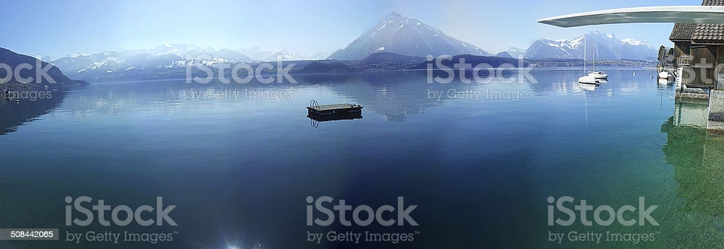 Lake Thun (Thunersee), Switzerland stock photo