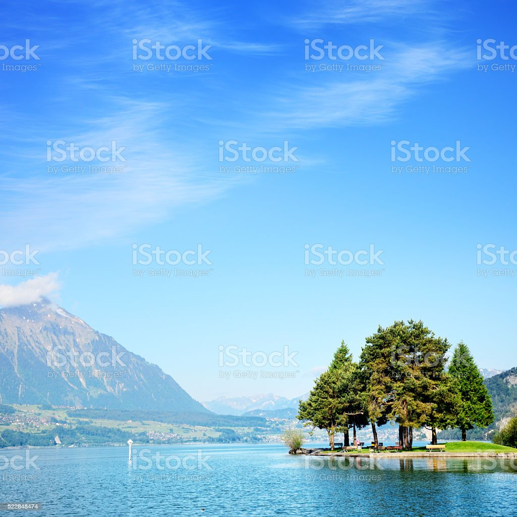 Lake Thun, Switzerland stock photo