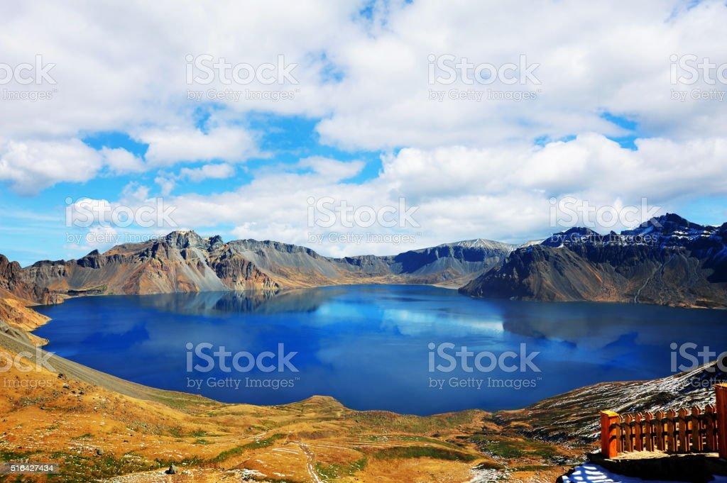 Lake Tianchi at Changbaishan national park stock photo