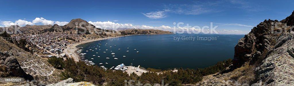 Lake Titicaca and Copacabana, Bolivia stock photo