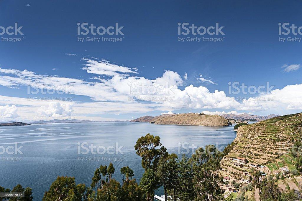Lake Titicaca, Isla de la Luna stock photo