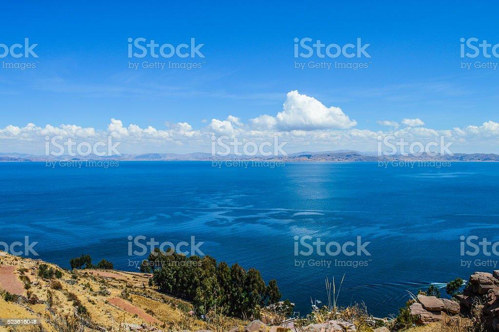 Lake Titicaca - Taquille Island stock photo