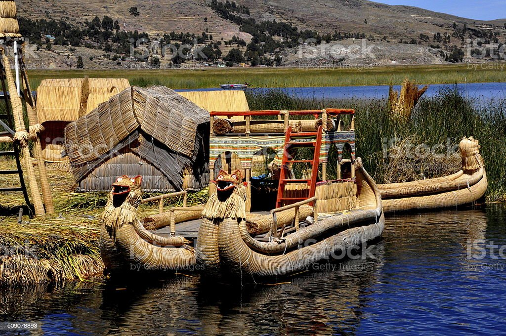Lake Titicaca - Uros Islands stock photo