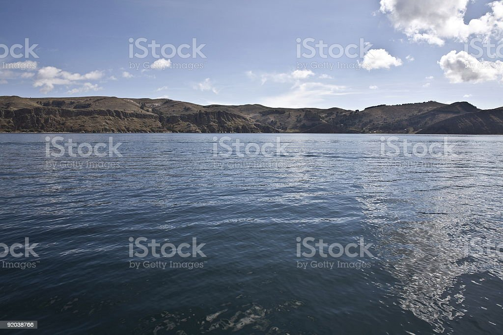 Lake Titicaca Waterscape royalty-free stock photo