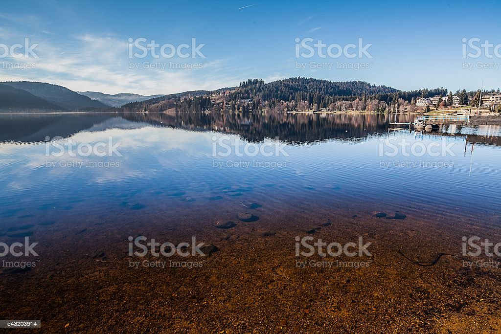 Lake Titisee, Black Forest, Germany stock photo