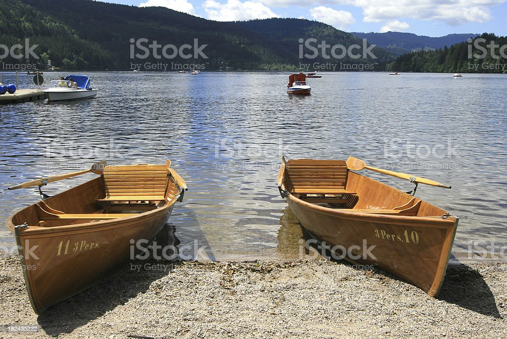 Lake Titisee in the Black Forest, Germany royalty-free stock photo