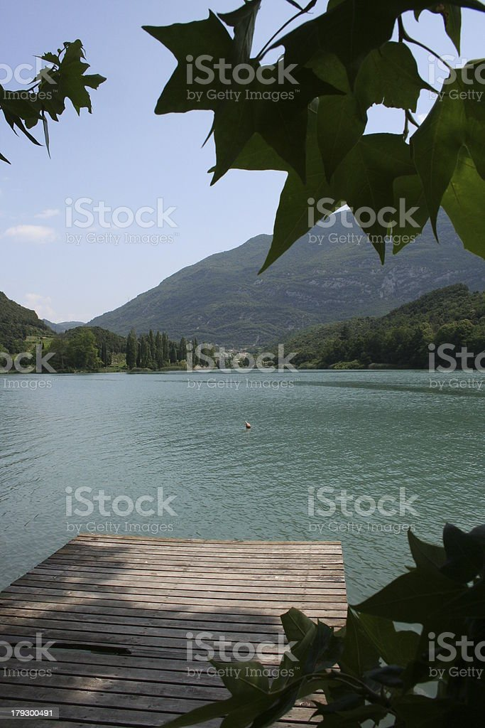 Lake Toblino royalty-free stock photo