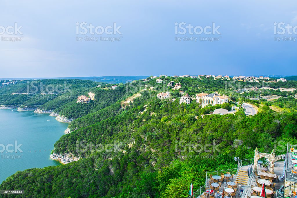 Lake Travis View Hill Country 2015 stock photo