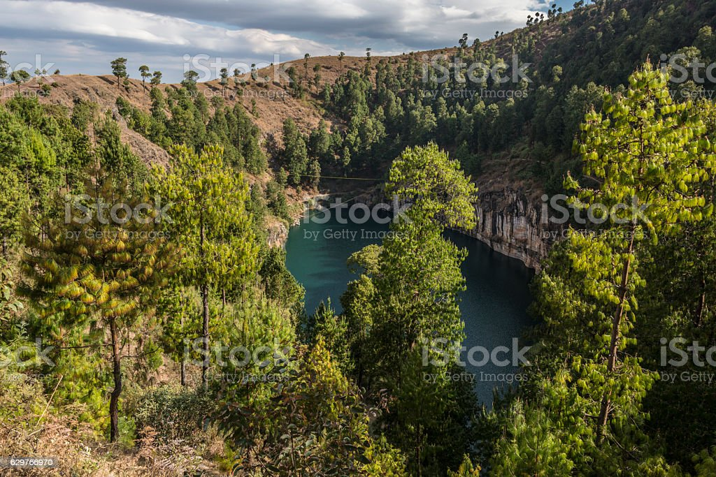 Lac Tritiva. Madagascar stock photo