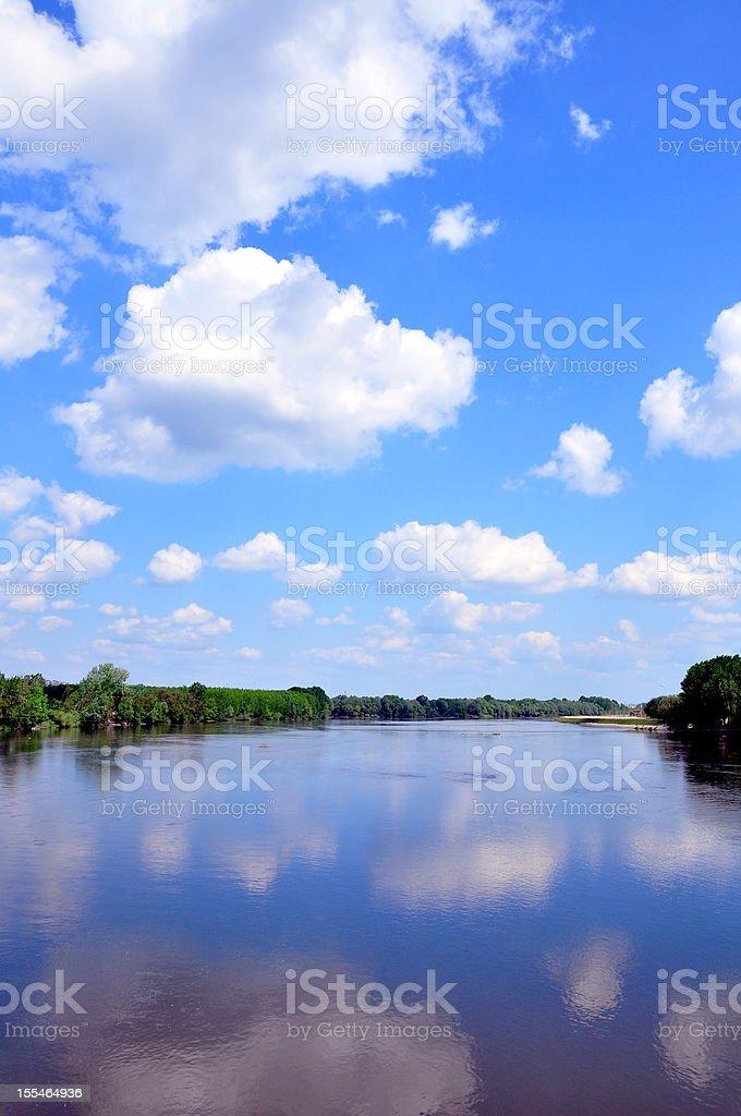 lake under blue sky royalty-free stock photo