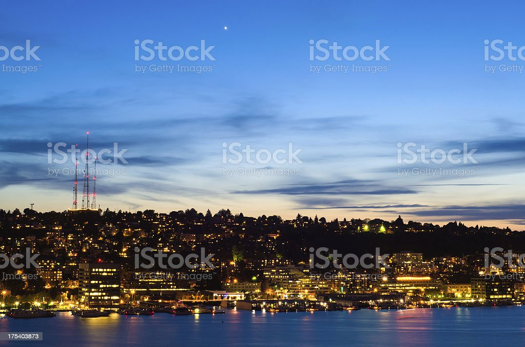 'Lake Union and Queen Anne in Seattle, WA' stock photo