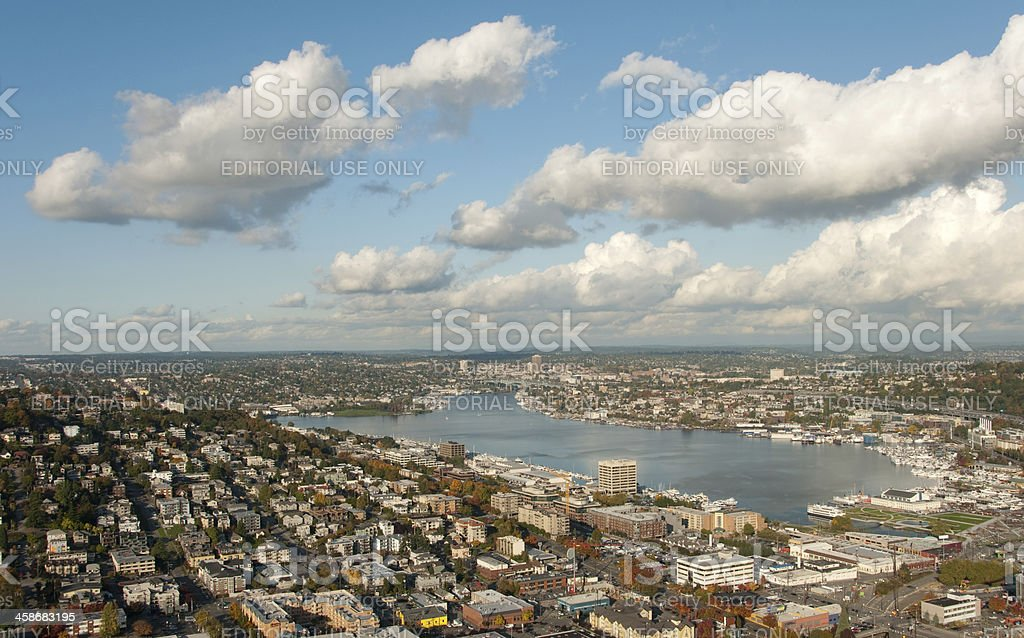 Lake Union stock photo