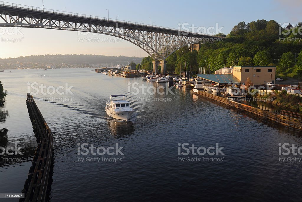 Lake Union Ship Canal, Seattle stock photo