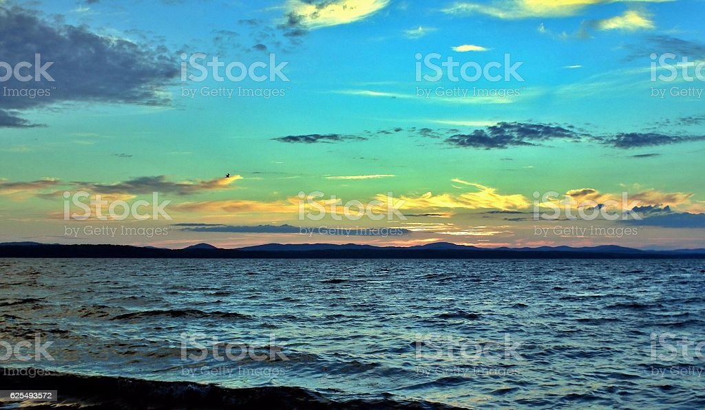 Lake Uwildy in Southern Urals in summer stock photo