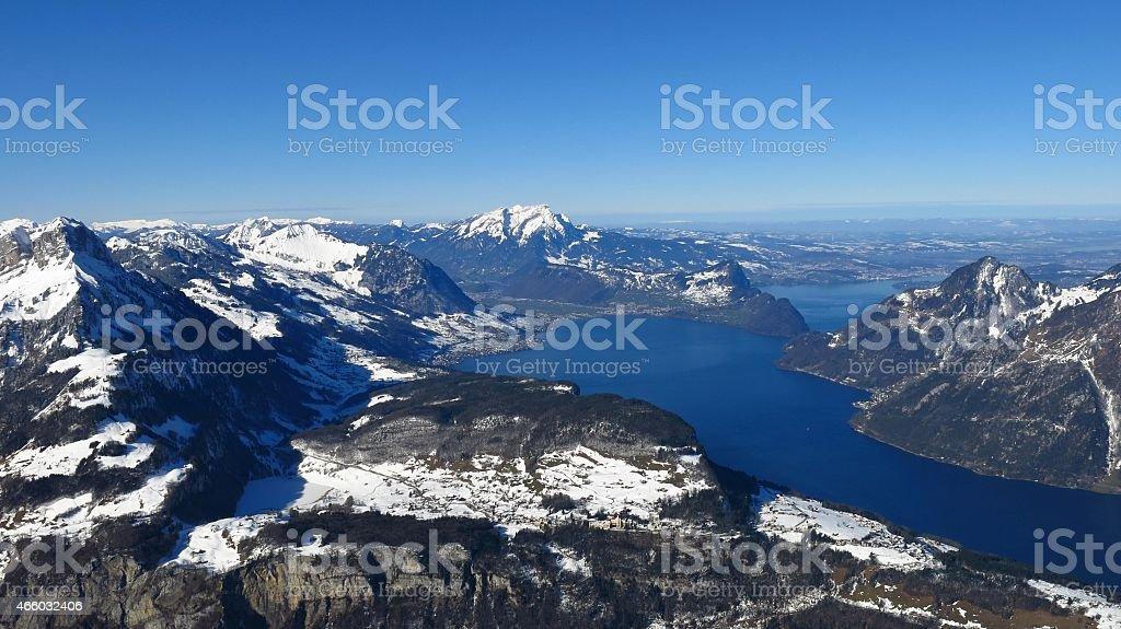 Lake Vierwaldstattersee stock photo