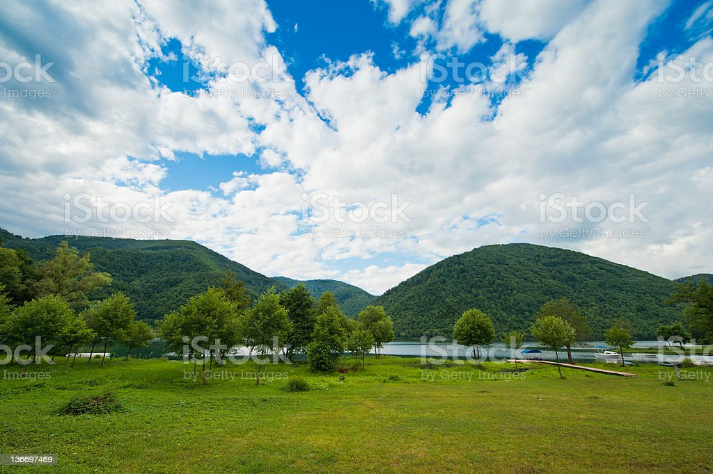 Lake view in Bosnia and Hercegovina stock photo