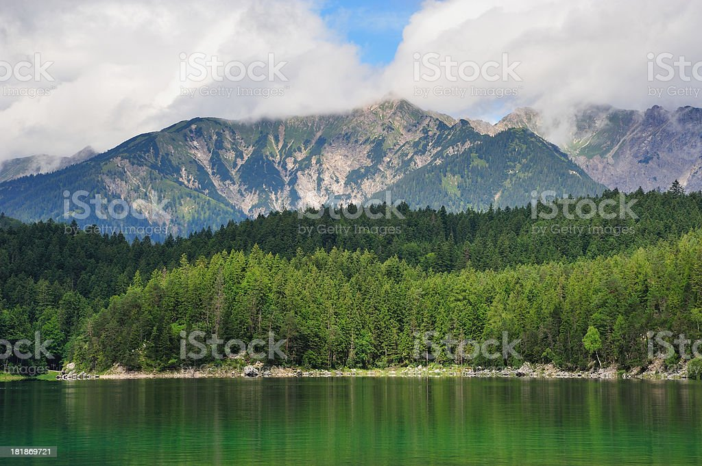 Lake View to Eibsee stock photo