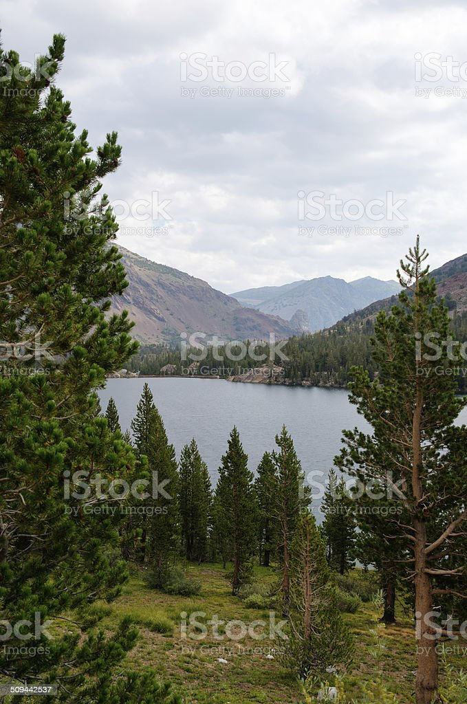 Lake View with Mountains in the background stock photo