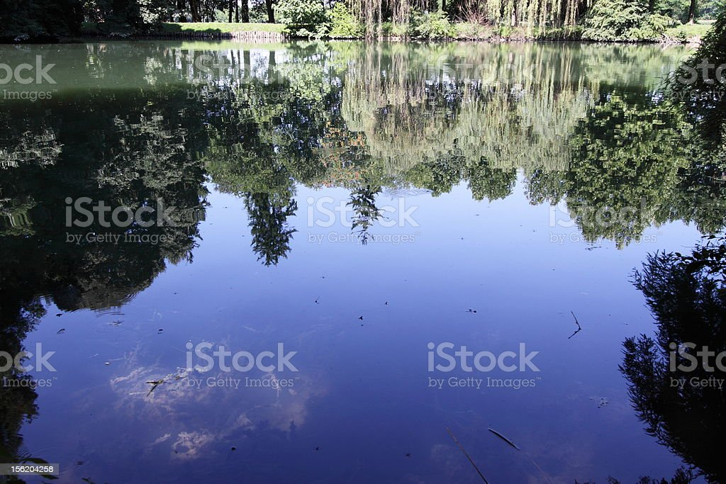 Lake Villa Contarini - Camerini stock photo