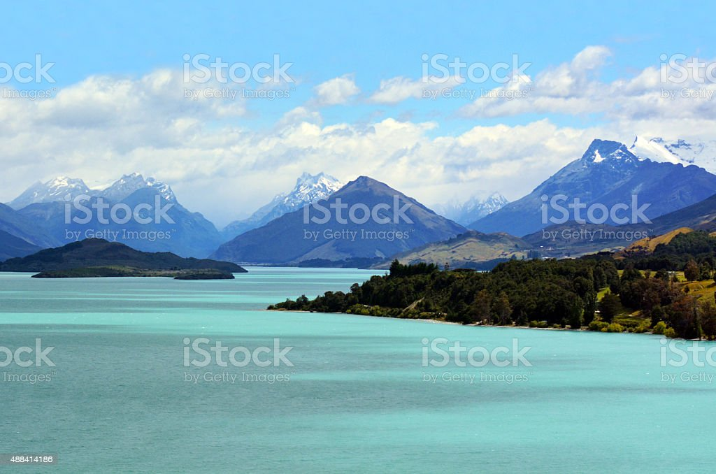 Lake Wakatipu New Zealand NZ NZL stock photo