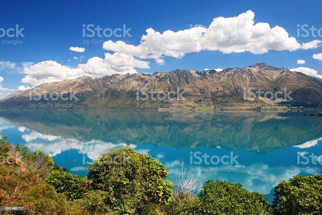 Lake Wakatipu, New Zealand stock photo