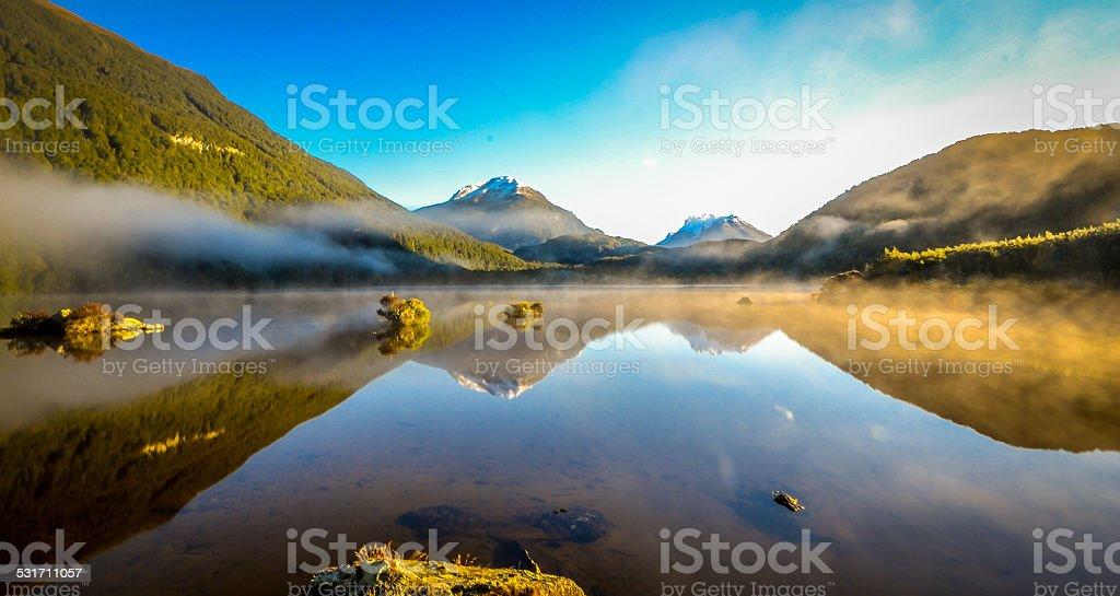 Lake wakatipu stock photo