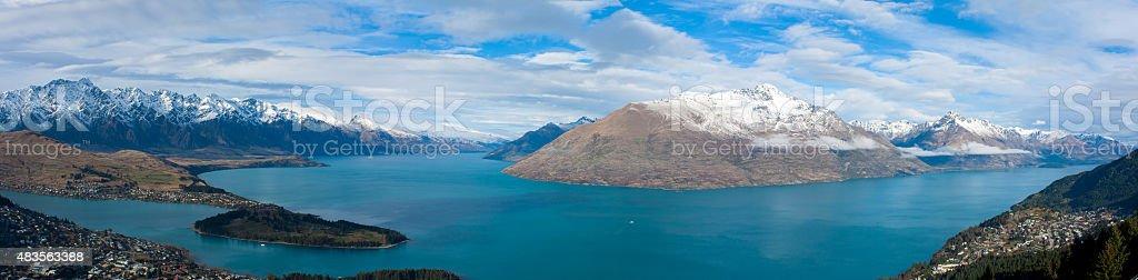 Lake Wakatipu, Queenstown New Zealand stock photo