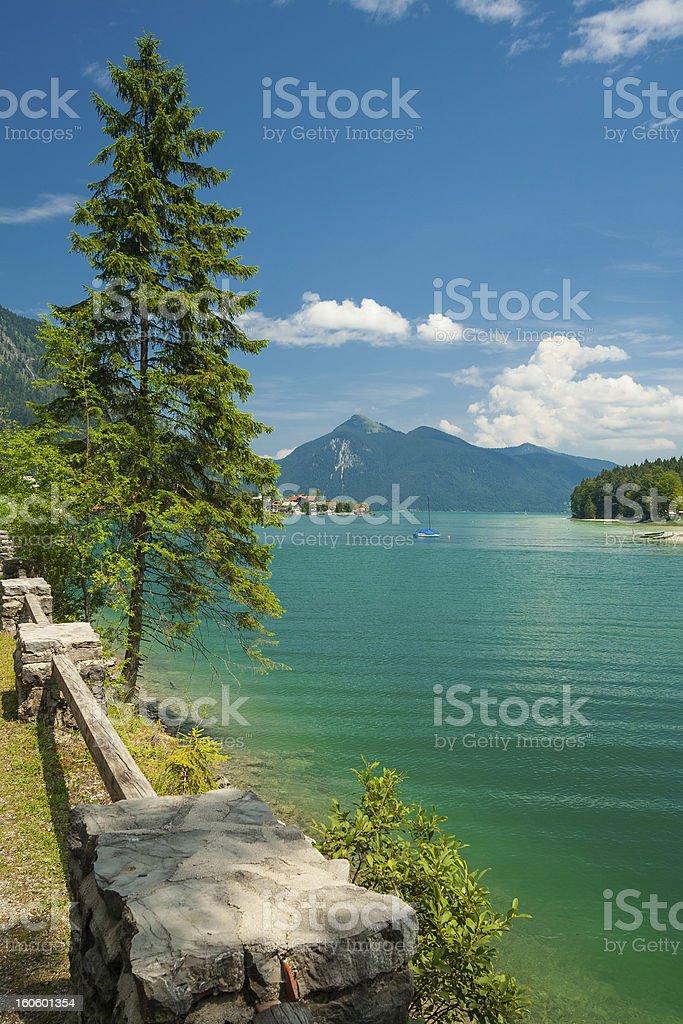 Lake Walchensee stock photo