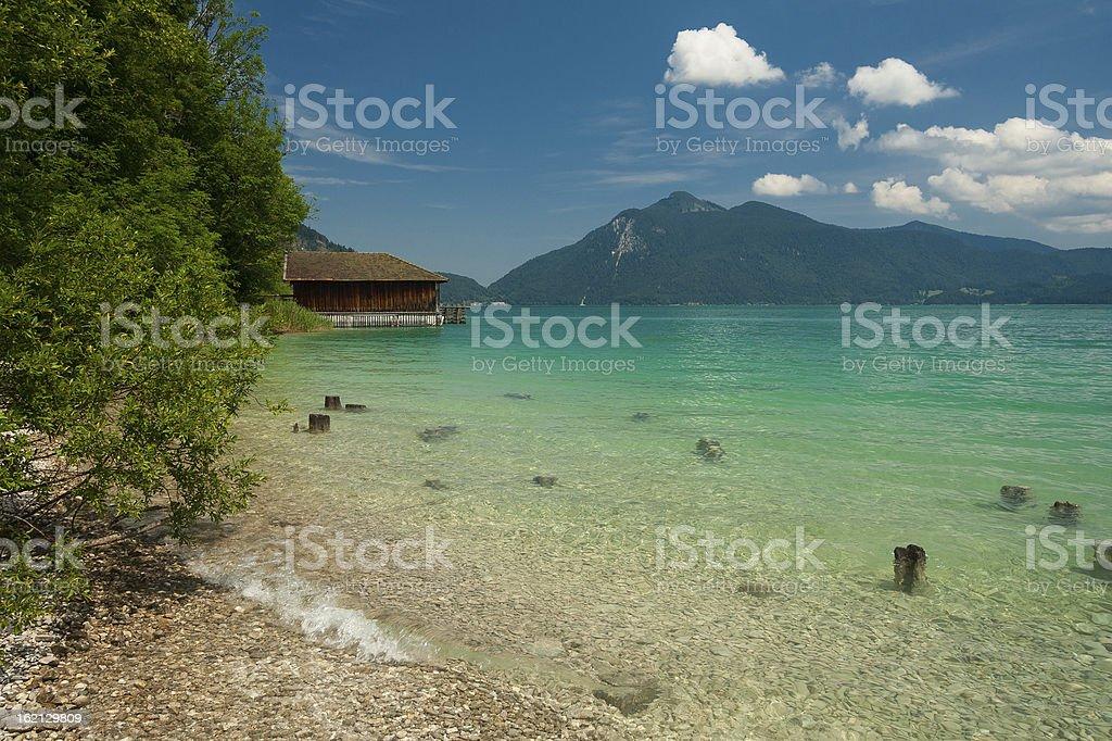 Lake Walchensee royalty-free stock photo