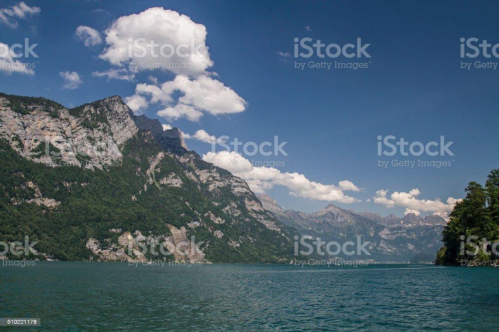 lake Walensee stock photo