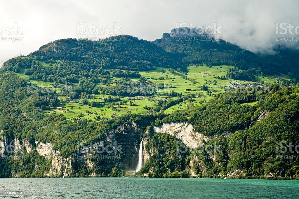 Lake Walensee Switzerland stock photo