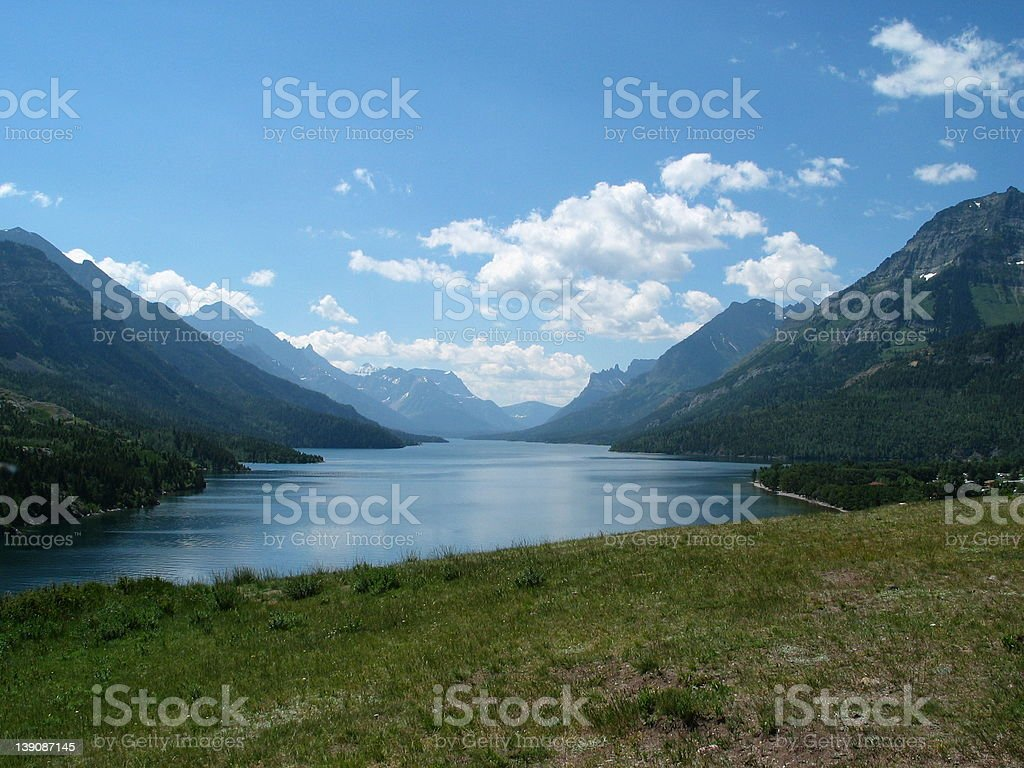 Lake Waterton royalty-free stock photo