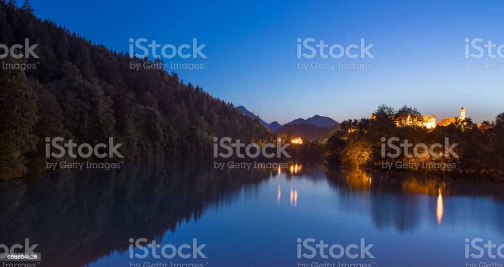 Lake Weissensee stock photo