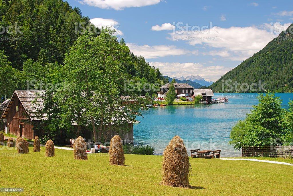 Lake Weissensee,Carinthia,Austria royalty-free stock photo