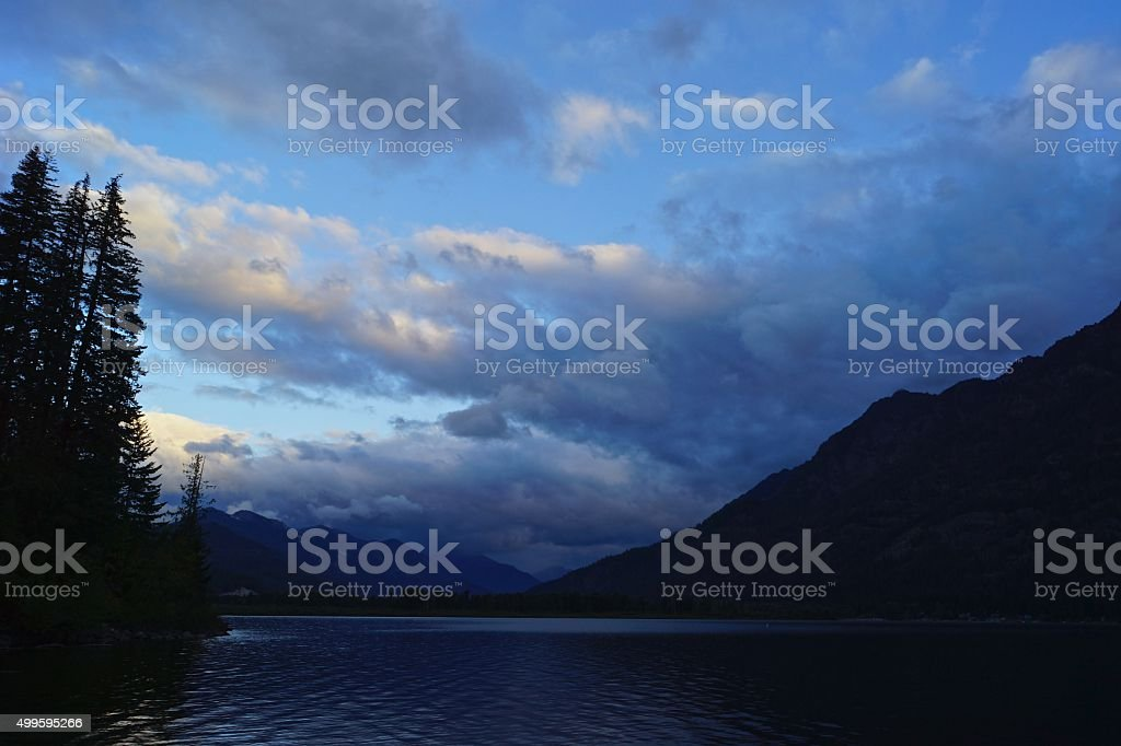 Lake Wenatchee Dawn stock photo