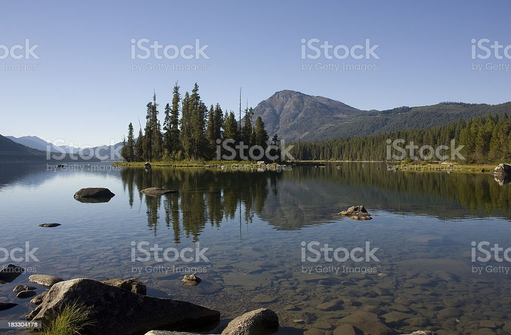 Lake Wenatchee stock photo