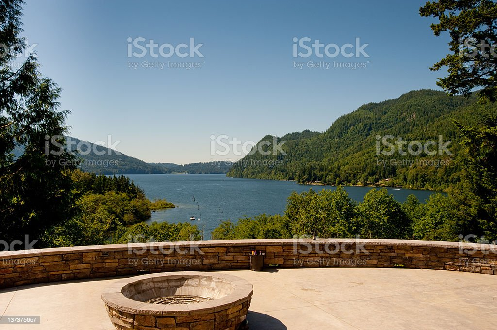 Lake Whatcom royalty-free stock photo