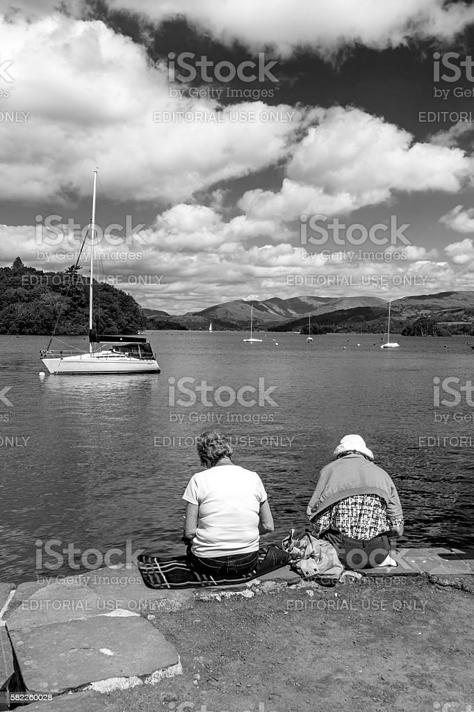 Lake Windermere, Cumbria stock photo