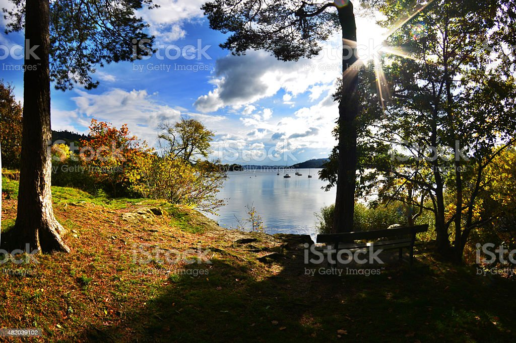 Lake Windermere from Waterhead, Ambleside stock photo