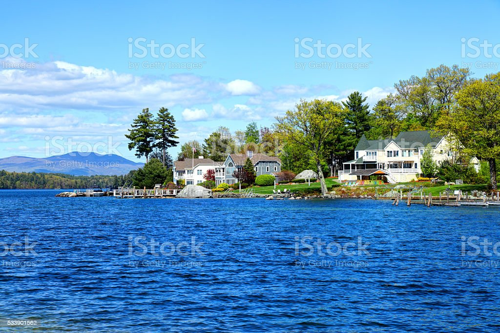 Lake Winnipesaukee stock photo