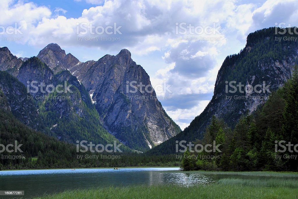 lake with mountain royalty-free stock photo