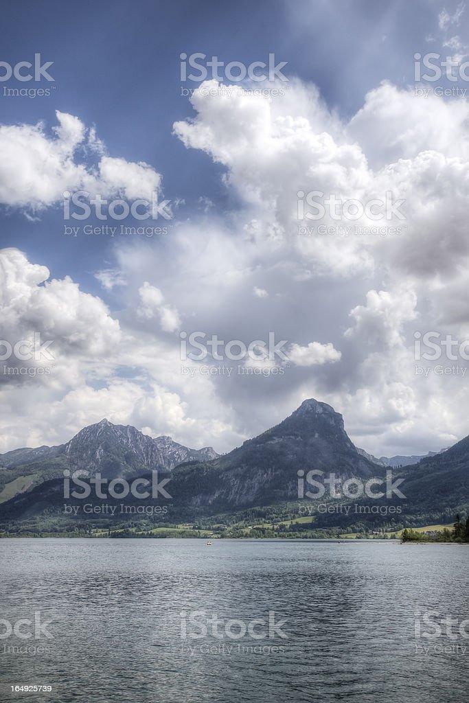 Lake Wolfgangsee in Austria stock photo
