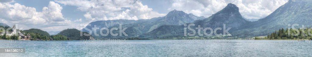 Lake Wolfgangsee in Austria (XXXL) stock photo