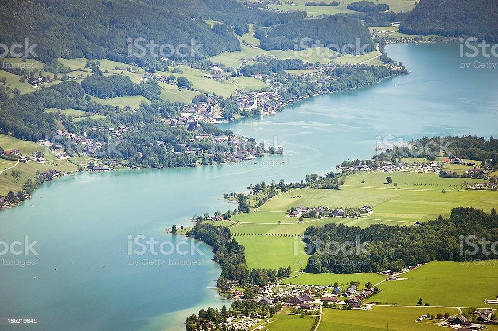 Lake Wolfgangsee stock photo