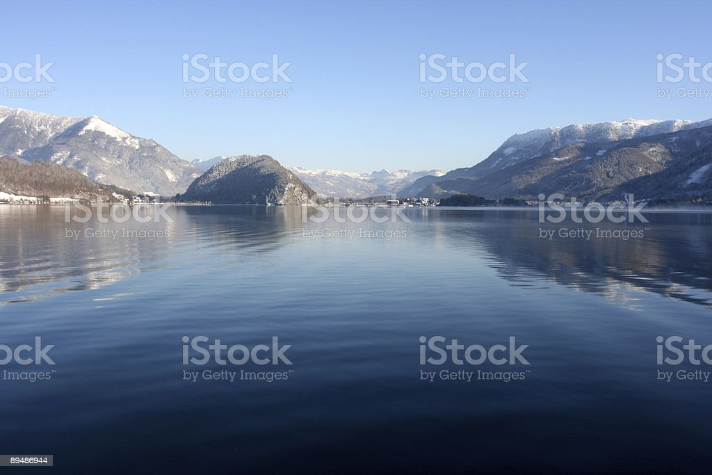 Lake Wolfgangsee royalty-free stock photo