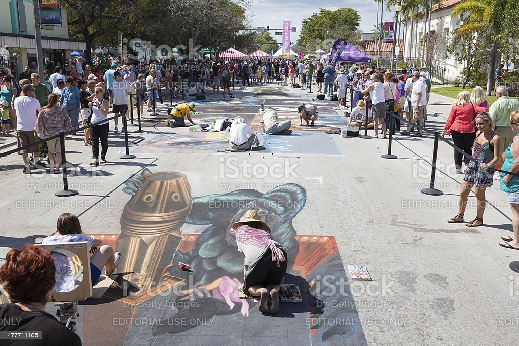 Lake Worth Street Painting Festival stock photo