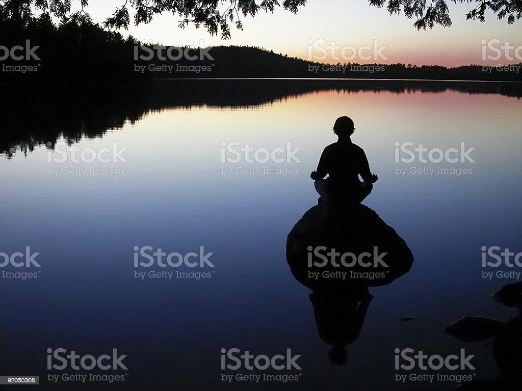 lake yoga stock photo